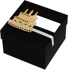 Giftisimo Luxus ajándékdoboz arany színű tortával díszítve