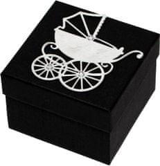 Giftisimo Luxus ajándékdoboz ezüst színű kocsival díszítve