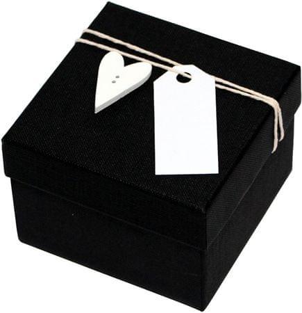 Giftisimo Luxusní dárková krabička s dřevěným srdíčkem