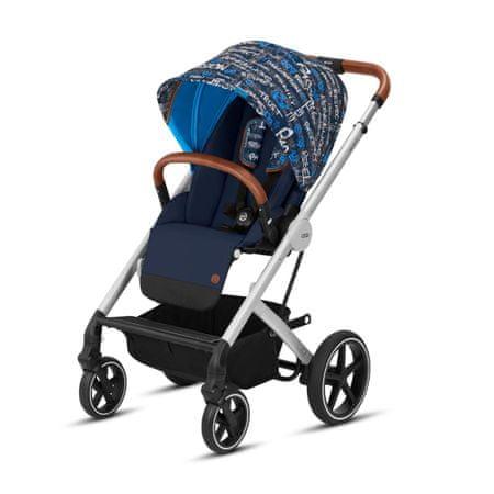Cybex otroški voziček Balios S 2019, črno-moder