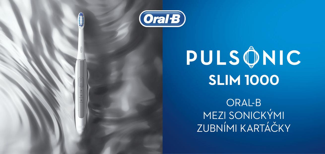 Oral-B Pulsonic SLIM 1000 Silver sonická technologie