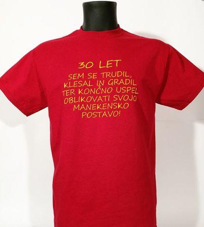 Gildan vezena majica Maneken 30, M, rdeča