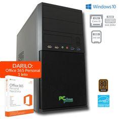 PCplus namizni računalnik e-office i5-8400/8GB/SSD240GB/W10H + DARILO: 1 leto Office 365 Personal (137279)