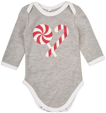 Garnamama gyermek body Christmas 56 fehér/szürke