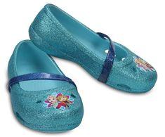 Crocs Detské balerínky Crocs Lina Frozen Flat Ice Blue 204454-4O9