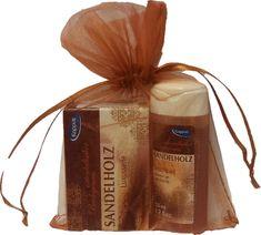 Kappus Darčekový balíček v organze Santal (telový šampón 50 ml, tuhé mydlo 50 g)