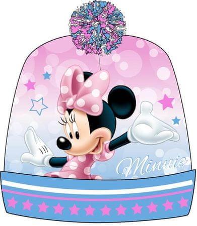 E plus M dívčí čepice Minnie 54 růžová/modrá