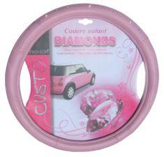 MAMMOOTH Poťah na volant Pink Diamond, 100% PVC, 36,5 - 38 cm, ružový
