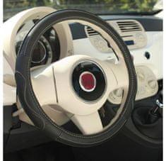 MAMMOOTH Potah na volant Premium, přírodní kůže, 36,5 - 38 cm, černý