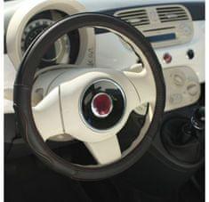MAMMOOTH Potah na volant Premium, přírodní kůže, 36,5 - 38 cm, černá