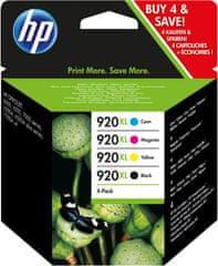 HP 920XL čtyřbalení originálních inkoustových kazet s vysokou výtěžností (C2N92AE)