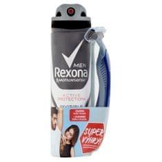 Rexona Antyperspirant w sprayu dla mężczyzn Active Protection + Invisible 150 ml + maszynka do golenia