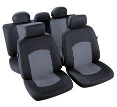 MAMMOOTH Poťahy na predné sedadlá Manaus, materiál: polyester, farba: čierna / sivá