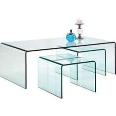 KARE Konferenční stolek Clear Club (3/Set)