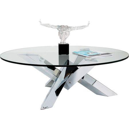 KARE Konferenční stolek Crystal Eco O100cm