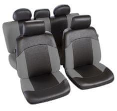MAMMOOTH Potahy na sedadla Morzine, kombinace přední a zadní, materiál: polyester, barva: černá/šedá