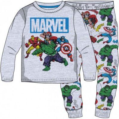E plus M chlapecké pyžamo Capitan America 110 sivá/zelená