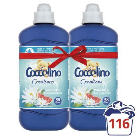 Coccolino omekšivač za rublje Creations, Water Lily & Pink Grapefruit, 2 x 1,45 l