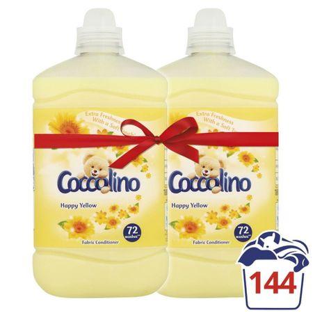 Coccolino omekšivač za rublje Happy Yellow, 2 x 1,8 l