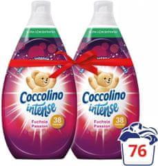 Coccolino omekšivač za rublje Intense, Fuchsia Passion, 2 x 570 ml
