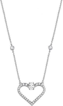 Morellato Ezüst nyaklánc csillogó szíve Cuori SAIV02 ezüst 925/1000
