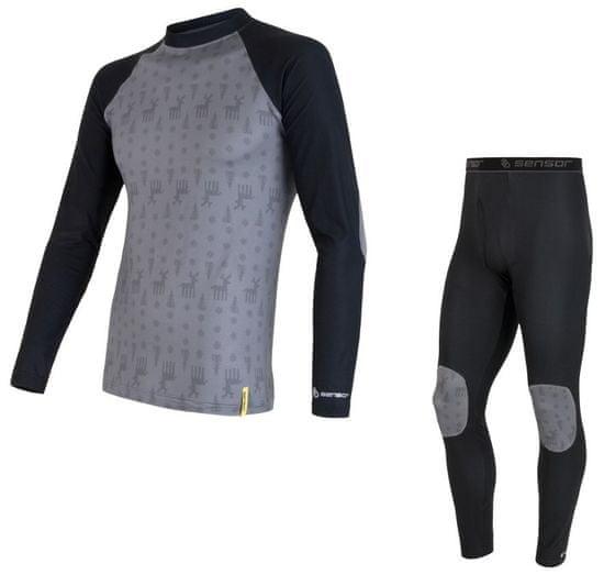 Sensor Dětský set tričko a spodky Flow 110 čierna/sivá