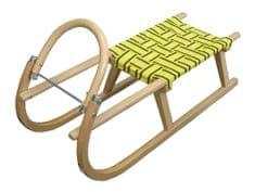 Acra sanki drewniane 95 cm, yellow