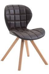 BHM Germany Jídelní čalouněná židle Tryk kůže, přírodní nohy