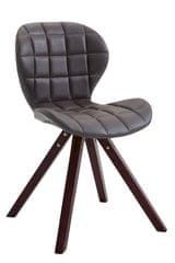 BHM Germany Jídelní čalouněná židle Tryk kůže, nohy cappuccino