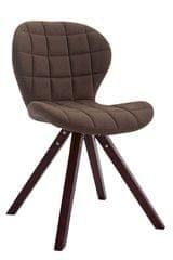 BHM Germany Jídelní čalouněná židle Tryk textil, nohy cappuccino