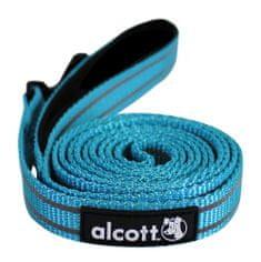 Alcott odblaskowa smycz dla psa niebieska  180 cm