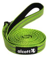 Alcott odblaskowa smycz dla psa zielona 180 cm