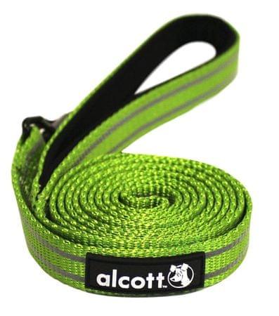 Alcott odblaskowa smycz dla psa 180 cm zielona S