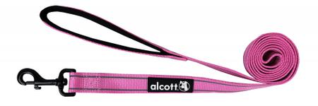 Alcott odblaskowa smycz dla psa 180 cm różowa S