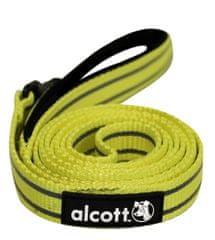 Alcott odblaskowa smycz dla psa żółta 180 cm