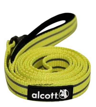 Alcott Fényvisszaverő kutyapóráz, Sárga, L