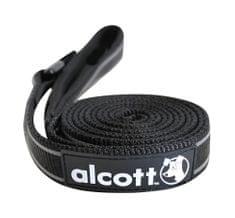 Alcott najlon povodec z odsevnimi elementi, črn