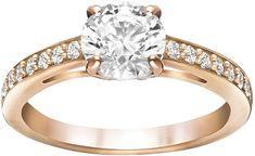 Swarovski Brązowy pierścionek z brokatem ATTRACT 51842/5149218