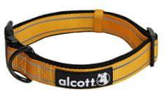 Alcott Nylonový obojok s reflexnými prvkami oranžový