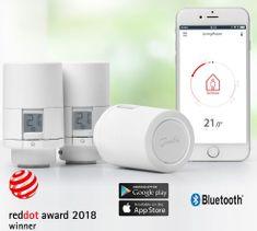 DANFOSS Eco  Bluetooth, inteligentna głowica termostatyczna 3x, biała