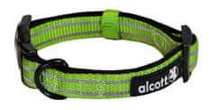 Alcott Nylonový obojok s reflexnými prvkami zelený