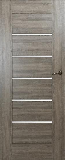 VASCO DOORS Interiérové dveře IBIZA kombinované, model 6, Merbau, A