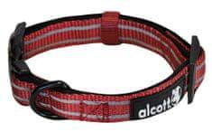 Alcott Reflexní obojek pro psy červený