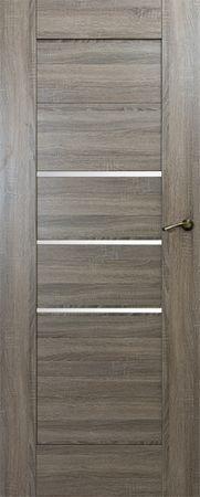 VASCO DOORS Interiérové dveře IBIZA kombinované, model 4, Dub sonoma, A