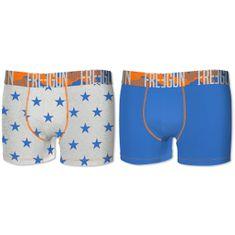 Freegun muške bokserice, 2kom, plave+zvijezde