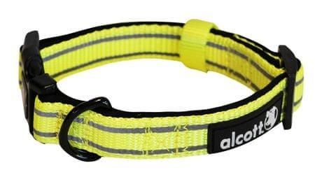 Alcott Nylon Fényvisszaverő nyakörv, Sárga, S