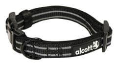 Alcott najlonska ogrlica s reflektirajućim elementima, crna