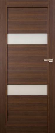 VASCO DOORS Interiérové dveře SANTIAGO kombinované, model 2, Merbau, A