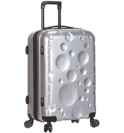 Sirocco potovalni kovček T-1194 / 3-S PC, srebrn