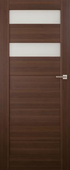 VASCO DOORS Interiérové dveře SANTIAGO kombinované, model 5, Merbau, A